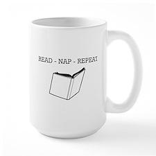 Read, nap, repeat Mugs