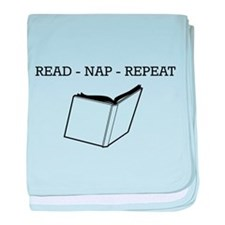 Read, nap, repeat baby blanket