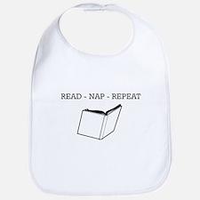 Read, nap, repeat Bib