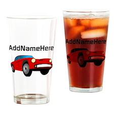 Sports Car, Custom Name Drinking Glass