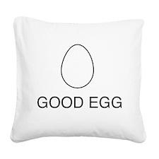 Good egg Square Canvas Pillow