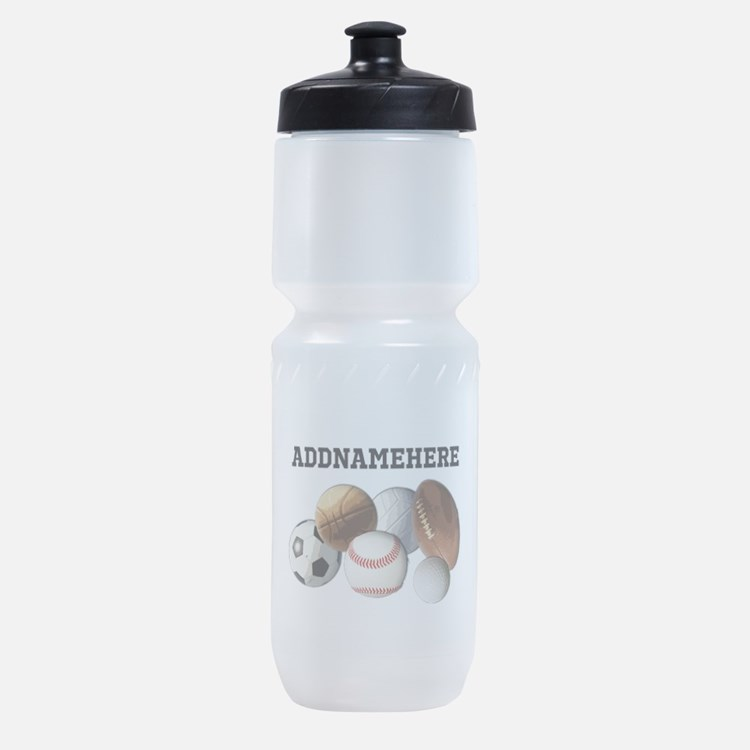 Sports Balls, Custom Name Sports Bottle