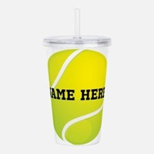 Personalized Tennis Ball Acrylic Double-wall Tumbl