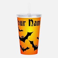 Personalized Halloween Bats Acrylic Double-wall Tu
