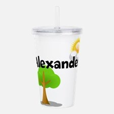 Custom Name Tree Sun Acrylic Double-wall Tumbler