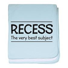 Recess best subject baby blanket