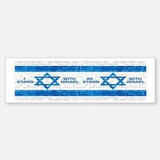 I Stand With Israel (bumper) Bumper Bumper Bumper Sticker