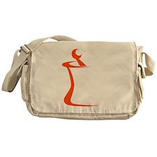 Orange Mortar and Pestle Messenger Bag