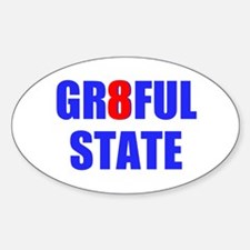 GR8FUL STATE (I) Sticker (Oval)