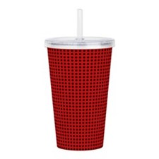 Red Abstract Acrylic Double-Wall Tumbler