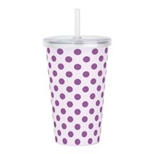 Polka Dot Acrylic Double-Wall Tumbler