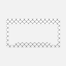 Chain Link Fence License Plate Holder