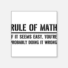 Rule of math Sticker