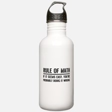 Rule of math Water Bottle