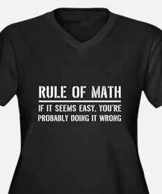 Rule of math Plus Size T-Shirt