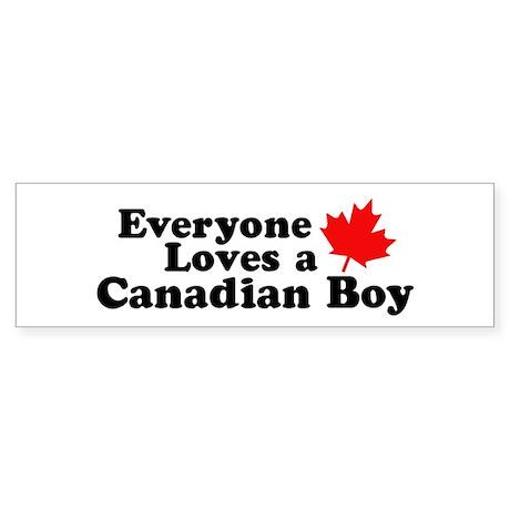 Everyone loves a Canadian Boy Bumper Sticker