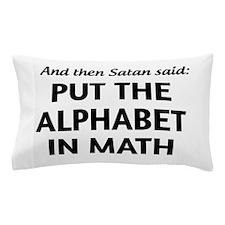 Alphabet in math Pillow Case