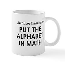 Alphabet in math Mugs