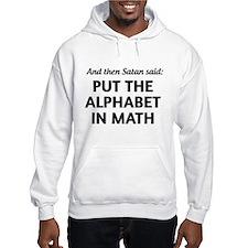 Alphabet in math Hoodie