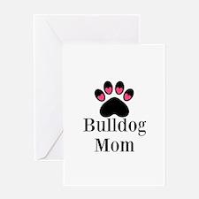 Bulldog Mom Greeting Cards