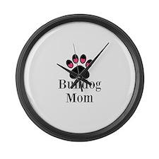 Bulldog Mom Large Wall Clock