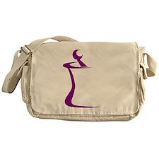 Purple Mortar and Pestle Messenger Bag