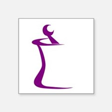 "Purple Mortar and Pestle Square Sticker 3"" x 3"""