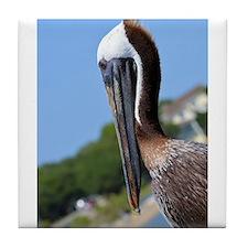 Pelican Smiling Tile Coaster