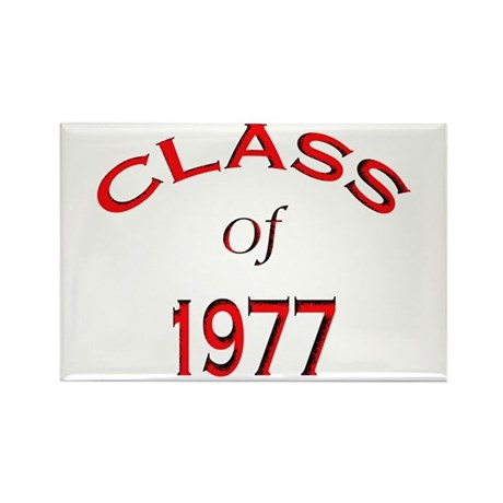 """""""Class of 1977"""" Rectangle Magnet (10 pack)"""