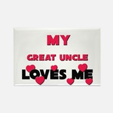 My GREAT UNCLE Loves Me Rectangle Magnet (10 pack)