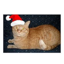 Christmas Orange Tabby Ca Postcards (Package of 8)
