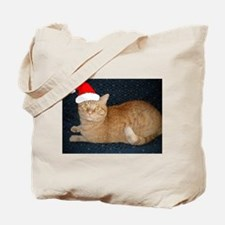 Christmas Orange Tabby Cat Tote Bag