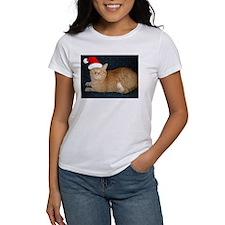 Christmas Orange Tabby Cat Tee
