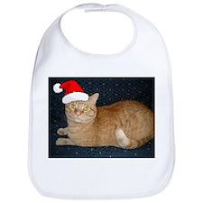 Christmas Orange Tabby Cat Bib
