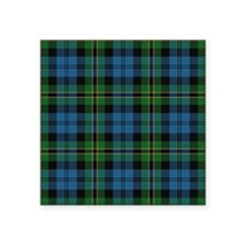 "Polaris Tartan Square Sticker 3"" x 3"""