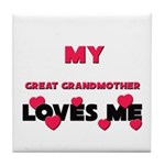 My GREAT GRANDMOTHER Loves Me Tile Coaster
