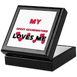 My GREAT GRANDMOTHER Loves Me Keepsake Box