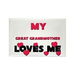 My GREAT GRANDMOTHER Loves Me Rectangle Magnet (10