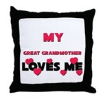My GREAT GRANDMOTHER Loves Me Throw Pillow