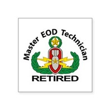 "EOD Master Retired Square Sticker 3"" x 3"""