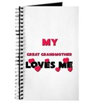 My GREAT GRANDMOTHER Loves Me Journal