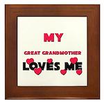 My GREAT GRANDMOTHER Loves Me Framed Tile