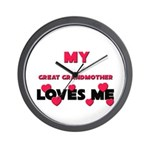 My GREAT GRANDMOTHER Loves Me Wall Clock