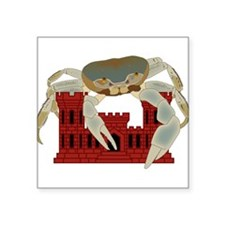 "Crabs over castles Square Sticker 3"" x 3"""