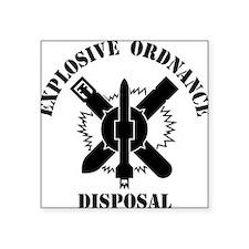 """EOD logo white Square Sticker 3"""" x 3"""""""