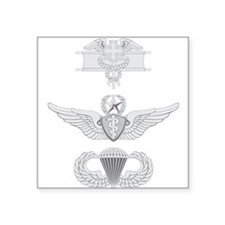 EFMB Flight Surgeon Master Airborne Square Sticker