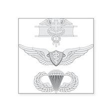 "EFMB Flight Surgeon Airborne Square Sticker 3"" x 3"