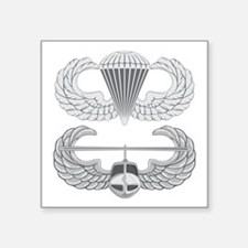 "Airborne Air Assault Square Sticker 3"" x 3"""