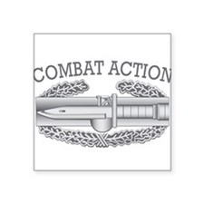 "Combat Action Badge Square Sticker 3"" x 3"""