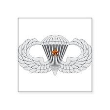 """Airborne Combat Jump Square Sticker 3"""" x 3"""""""